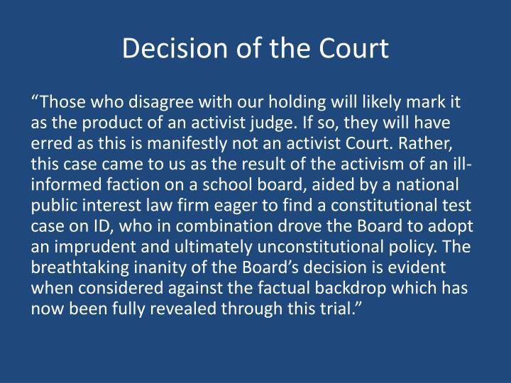 Decision of the Court