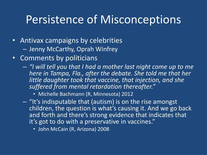 Persistence of Misconceptions