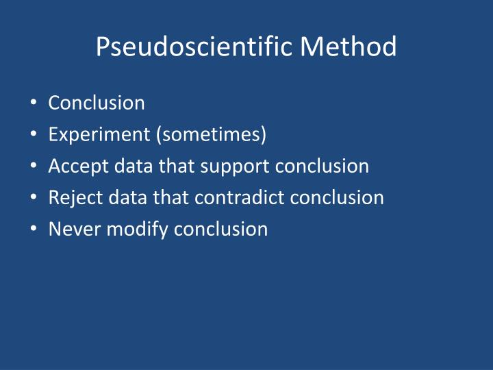 Pseudoscientific Method