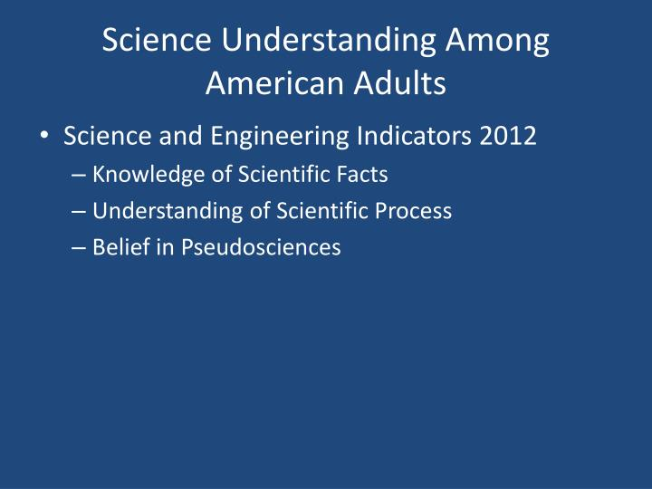 Science Understanding Among