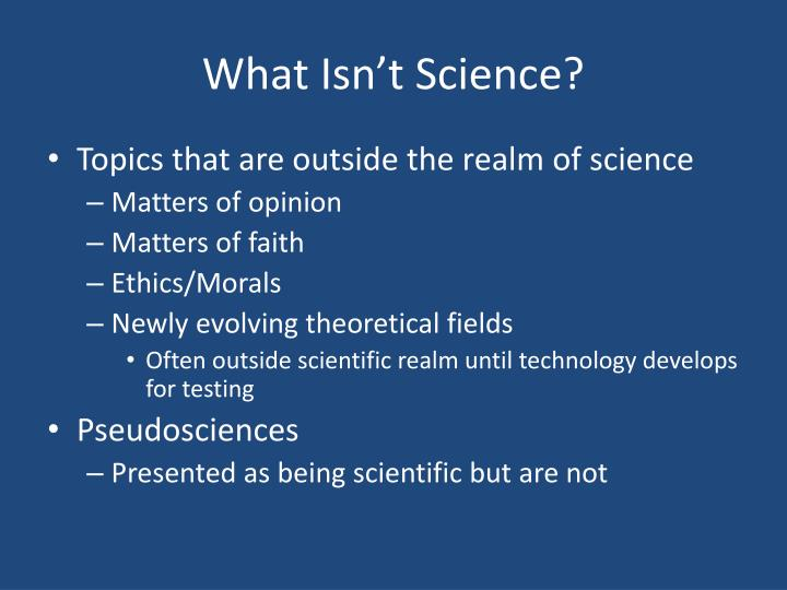 What Isn't Science?