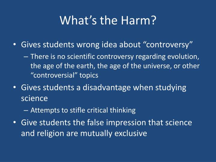 What's the Harm?