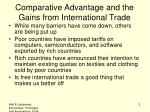 comparative advantage and the gains from international trade1