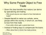why some people object to free trade