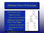 attribute flow lr example