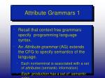 attribute grammars 1