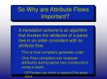 so why are attribute flows important