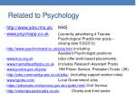 related to psychology