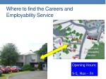 where to find the careers and employability service