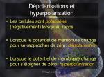 d polarisations et hyperpolarisation