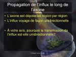 propagation de l influx le long de l axone