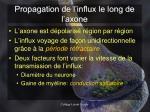 propagation de l influx le long de l axone1