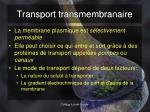 transport transmembranaire