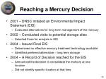 reaching a mercury decision