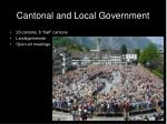 cantonal and local government