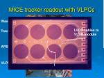 mice tracker readout with vlpcs