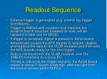 readout sequence