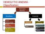 hemolytic anemia classification