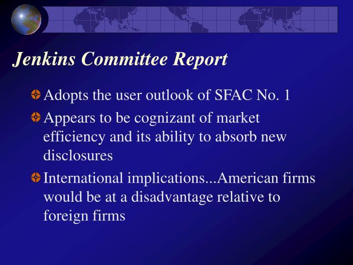 Jenkins Committee Report