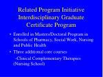 related program initiative interdisciplinary graduate certificate program