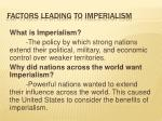 factors leading to imperialism