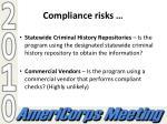 compliance risks