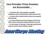 core principle prime grantees are accountable