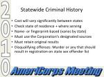 statewide criminal history