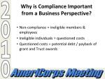 why is compliance important from a business perspective