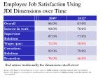 employee job satisfaction using jdi dimensions over time