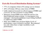 facts re forced distribution rating systems