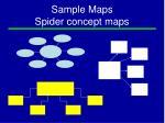 sample maps spider concept maps