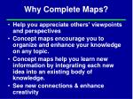 why complete maps