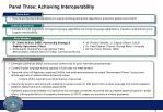 panel three achieving interoperability