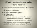 10 sentir les donn es spirituelles aider discerner