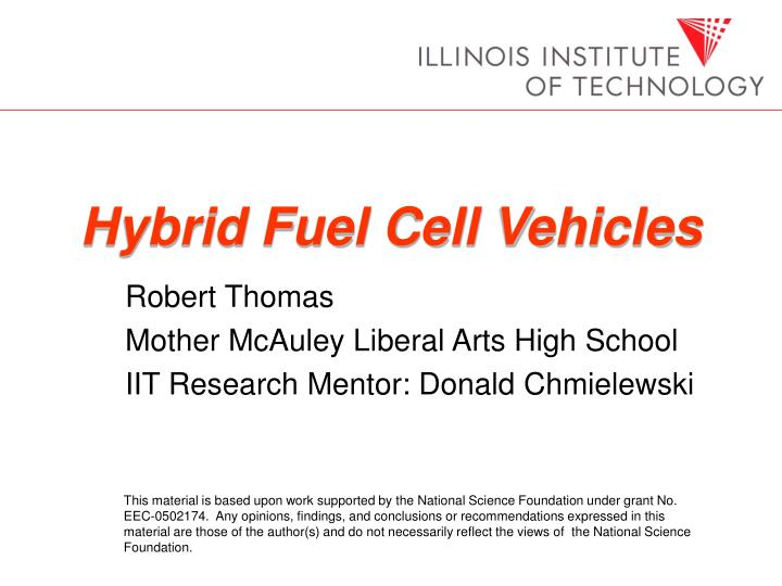 hybrid fuel cell vehicles n.