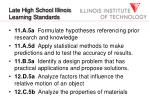 late high school illinois learning standards
