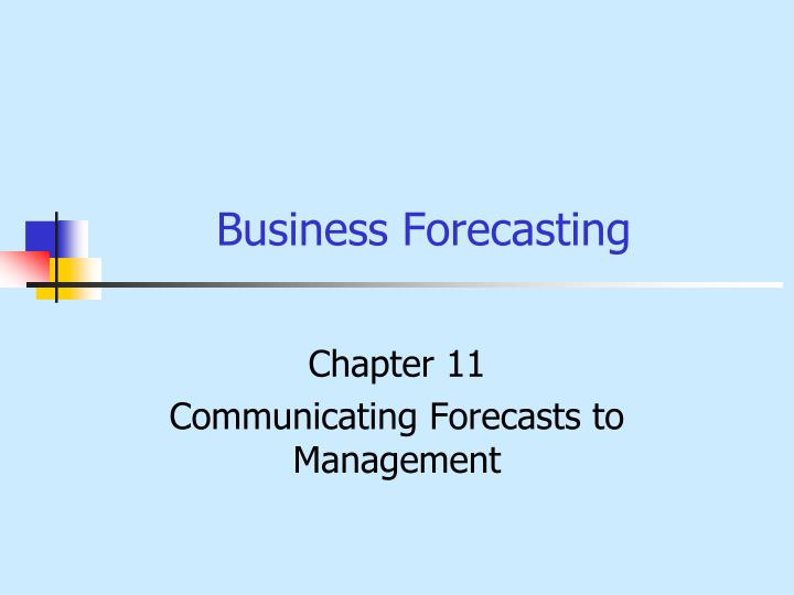 business forecasting n.