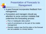 presentation of forecasts to management2