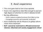 e asia s experience