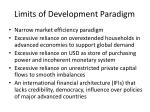 limits of development paradigm