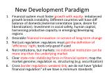 new development paradigm