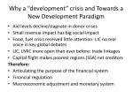 why a development crisis and towards a new development paradigm