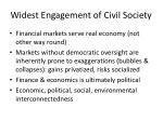 widest engagement of civil s ociety