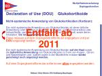 declaration of use dou glukokortikoide