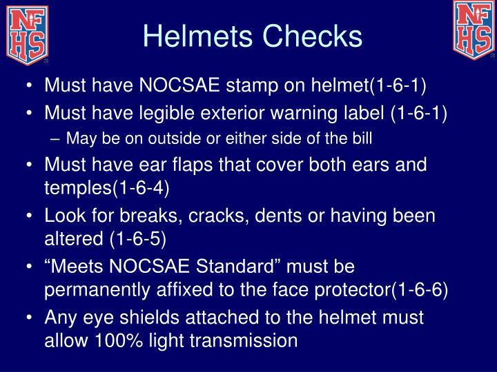 Helmets Checks