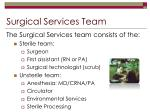 surgical services team