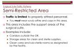surgical suite traffic patterns semi restricted area