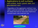 i applications to soft surfaces soil surface mulch gravel lawn turf groundcover cont2