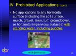 iv prohibited applications cont